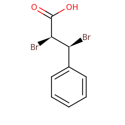 erythro 2 3 dibromo 3 phenylpropanoic acid structure